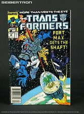 THE TRANSFORMERS #39 1987 Marvel Comics US G1 Fortress Maximus Shockwave 181101F