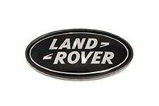 LAND ROVER LOGO REAR BODY OVAL BADGE BLACK ON SILVER GENUINE PART DAH500330