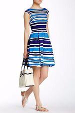 new Kate Spade Mariella Capri Frech Navy Striped Cotton Dress 4/6; NWT$398 Sale