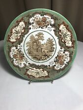 Royal Doulton Plate Rare 1920's Featuring House, Family, Flowers and Birds