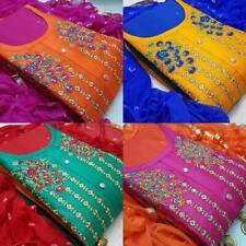 Fancy Embroider Designer Salwar Kameez Indian Wear Party Shalwar Wedding Suit St