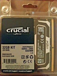 Crucial Ballistix 32GB (2 x 16GB) DDR4 SO-DIMM DDR4 Laptop RAM / MEMORY