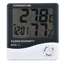 HTC-1 Thermometer Hygrometer Weather Station Temperature Humidity Desk Clock