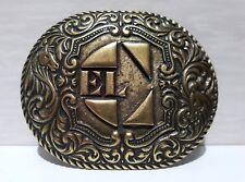 Fibbia vintage (EL CHARRO) Made Italy (5.5 x 7) Cintura ANNI 80 NUOVA (PANINARO)