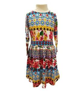MINI BODEN Girls Designer Dress Kids Party Floral Colourful NEW 2 3 4 5 6 years