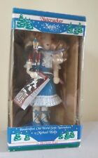More details for nutcracker girl blue dress by michael wolfe old world style new in the box 2000