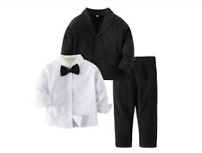 Bilo Baby Boy Tuxedo Formal Wear Suit 3-PC Shirt Pants and Jacket