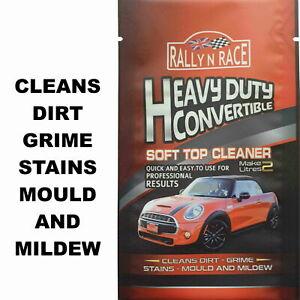 CLASSIC CAR CONVERTIBLE HOOD - SOFT TOP FABRIC-VINYL ROOF CLEANER - STAINS-MOULD