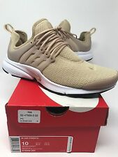 New Nike Air Presto Linen White Beige Tan Khaki Cream 878068200 Women size 10