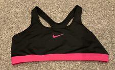 Nike Pro Sports Bra BLACK & PINK LOGO Size XL Women's