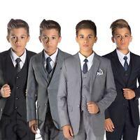 Boys Slim Fit Suit, Navy Suit, Grey Suit, Black Suit, Page Boy Suits, Boys Suits