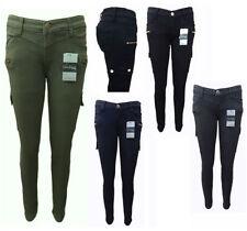 Cotton Machine Washable Cargo Jeans for Women
