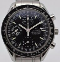 Omega - Speedmaster Day-Date-month chronograph automatic stainless steel watch