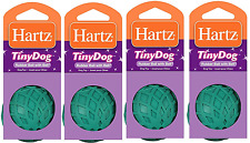 Pet Supplies Pack Of 4 Hartz Rubber Ball W/ Bell For Tiny Dogs 1 Count Assorted