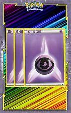 Energie Psy x3 - Cartes Pokemon Neuve Française - NRJ - Violette