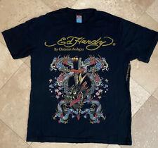 Mens Authentic Ed Hardy DRAGON Black S/S Tee T Shirt SZ XL