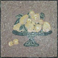 Table Top Fruit Basket Marble Mosaic Geo1096