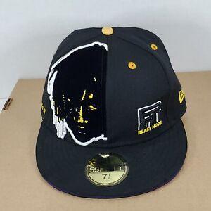 Beast Mode New Era 59fifty Hat Cap Marshawn Lynch Sz 7 1/8 RIP TWIN RB, Rare HTF