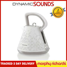 Morphy Richards White Prism 1.5 Litre 3kW Traditional Kettle - 108110