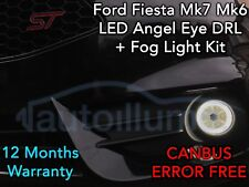 FORD Fiesta Mk7.5 Mk7 Mk6 ST ZETEC S ZS LED DRL Angel Eye Fog Light Kit