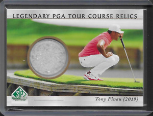 2021 UD Artifacts SP Preview Tony Finau Golf TPC Sawgrass Course Sand Relic Card