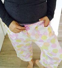 PETER ALEXANDER WOMENS PYJAMA PANTS PRINTED COTTON Pockets 3/4 Sz L
