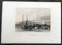 1852 H. Meyer Antique Print View of Buenos Aires, Argentina