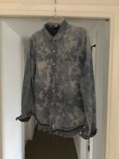 Joes Jeans Joes Collection Patterned Denim Shirt, Size Large! Excellent! CUTE!
