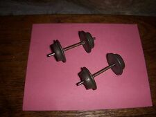 2 SETS USED 1 INCH PRE WAR AMERICAN FLYER O GAUGE WHEEL & AXLE SETS FOR PARTS