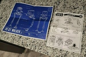 1995 Kenner Star Wars Imperial AT-ST Scout Walker Instruction Sheet & Poster
