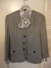 RICHARDS B & W RETRO CHECK JACKET & St MICHAEL WHITE WITH PATTERN BLOUSE
