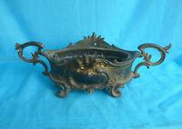 Jardiniere Messing ? 26 x 10 cm antik Vintage Metall Brass ? Metal 10 x 4''