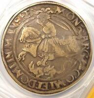 1543 German States Mansfeld Thaler Coin - Certified ANACS VF30 - Rare Coin!