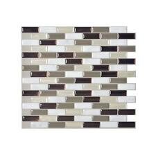 Smart Tiles SM1054-6 SELF-ADHESIVE WALL TILES 6/SHEETS MURANO STONE 3.84 sq/ft