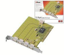 Trust 16422 Tarjeta PCI de alta velocidad con 5 puertos USB 2.0