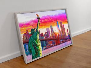 NEW YORK CITY - DAWN'S EARLY LIGHT - Original Poster Art Print