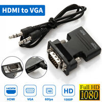 HDMI TO VGA HDMI Female to VGA Male Converter adapter w/ Audio Support 1080P US