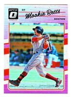 2017 Donruss Optic PINK REFRACTOR PRIZM #77 MOOKIE BETTS Boston Red Sox