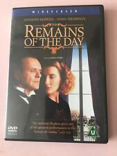 The Remains of the Day DVD (2014) Anthony Hopkins, cert U