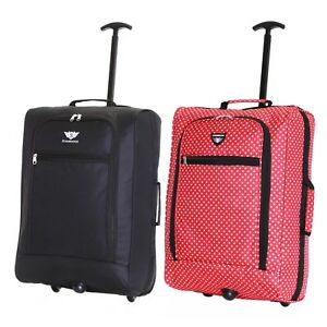 Ryanair 55 cm Cabin Carry On Hand Luggage Suitcase Approved Trolley Case Bag New