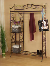 Standgarderobe aus Metall Antikbraun Garderobenständer Garderobe Kleiderständer