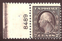 US Stamp #507 ~ Mint-LH ~ Plate Number Single [PNS] ~ Always Free Shipping!!!