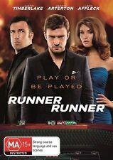 Runner Runner (DVD, 2014) J Timberlake G Arterton A Mackie B Affleck LIKE NEW