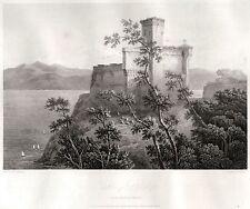 LERICI: CASTELLO.Golfo dei Poeti.La Spezia.Riviera.Liguria.HAKEWILL.ACCIAIO.1819