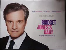 BRIDGET JONES'S BABY ORIGINAL 2016 QUAD POSTER COLIN FIRTH MR DARCY
