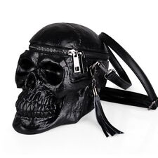 Skull Shaped Women Shoulder Bag Gothic Crossbody Bag Silicone Party Costume Cool