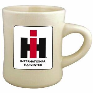 White Stoneware 8oz Diner MUG with Farmall IH Logo