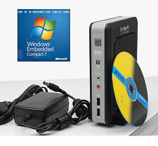 THIN CLIENT EX-PC CHIP PC CPU ATOM N270 4GB SSD 44-p IDE FESTPLATTE WINDOWS7 EMB