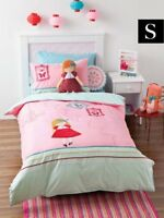 HICCUPS DOLLS HOUSE SINGLE QUILT COVER SET - PINK