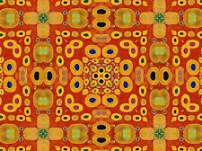 ABSTRACT PAINTING SYMMETRY PATTERN RED YELLOW POSTER ART PRINT PICTURE BB236A